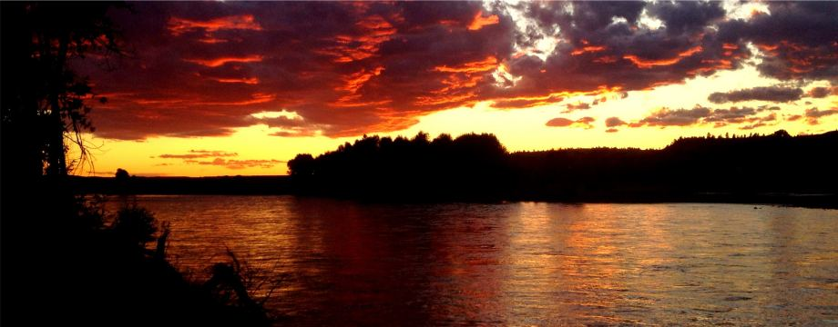 Sunset on the Yellowstone River