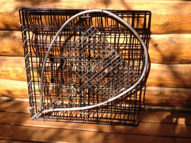 Crab Pot, Landing Net Hoop, and Portable Grill