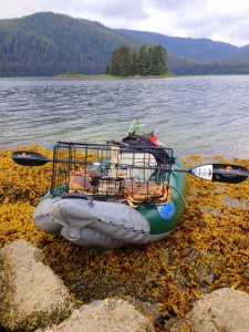 Crab trap and kayak