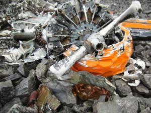 Wreckage of Clarence Rhode's Grumman Goose