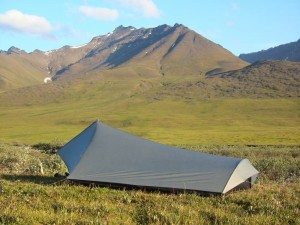 My Tarptent set up near Anaktuvuk Pass