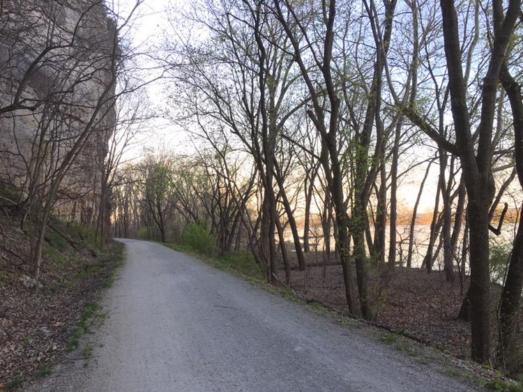 Katy Trail along Missouri River
