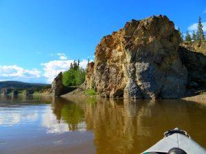 Rock bluffs Porcupine River